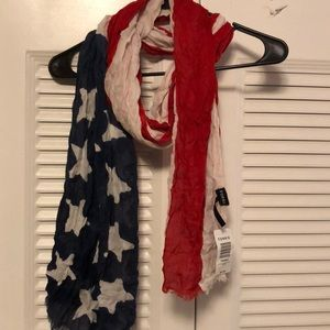 American Eagle American Flag themed scarf
